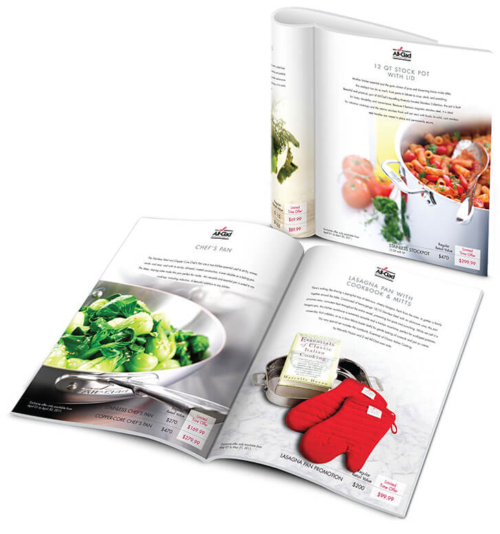 Product Brochure design for allclad canada