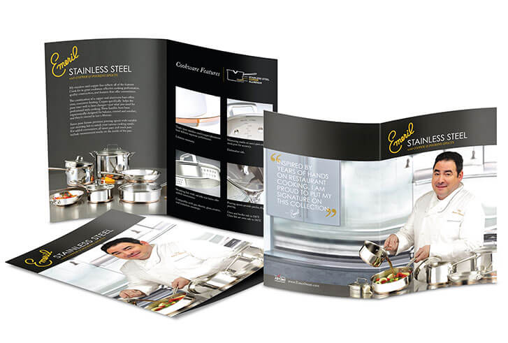 Single product brochure graphic design sample