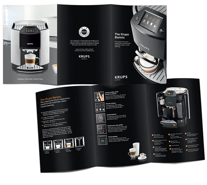 Krups coffee brochure design