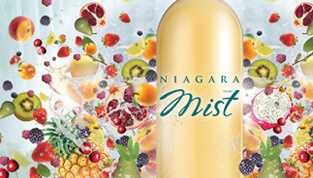 poster design for niagara mist fruit wines