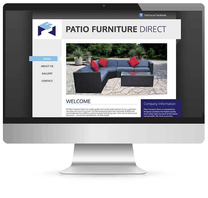 Web Design for Mississauga Client Patio Furniture Direct