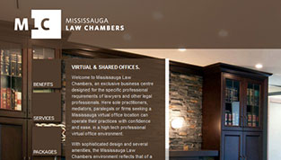 Design of Mississauga Law Chambers Website