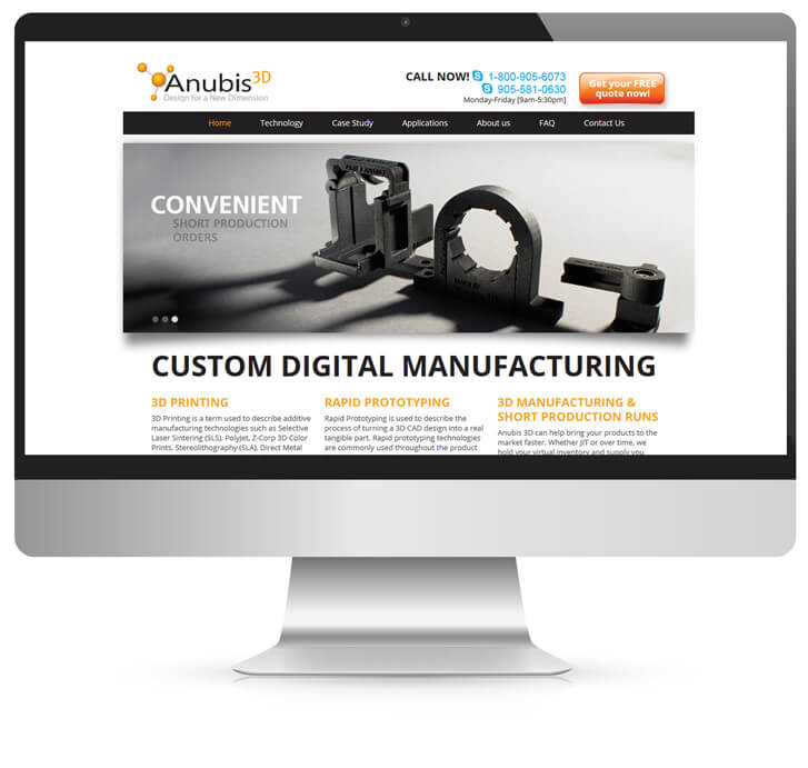 Anubis 3D homepage design